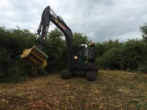 Excavator mulcher